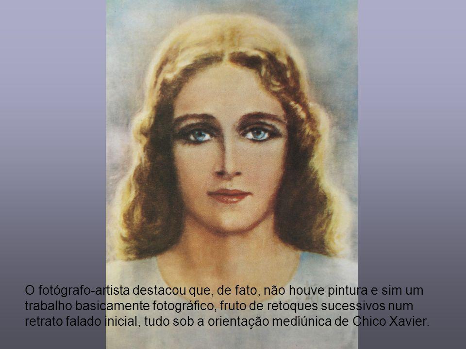 A fisionomia de Maria, assim retratada, revela tal qual Ela é conhecida quando de Suas visitas às esferas espirituais mais próximas e perturbadas da c