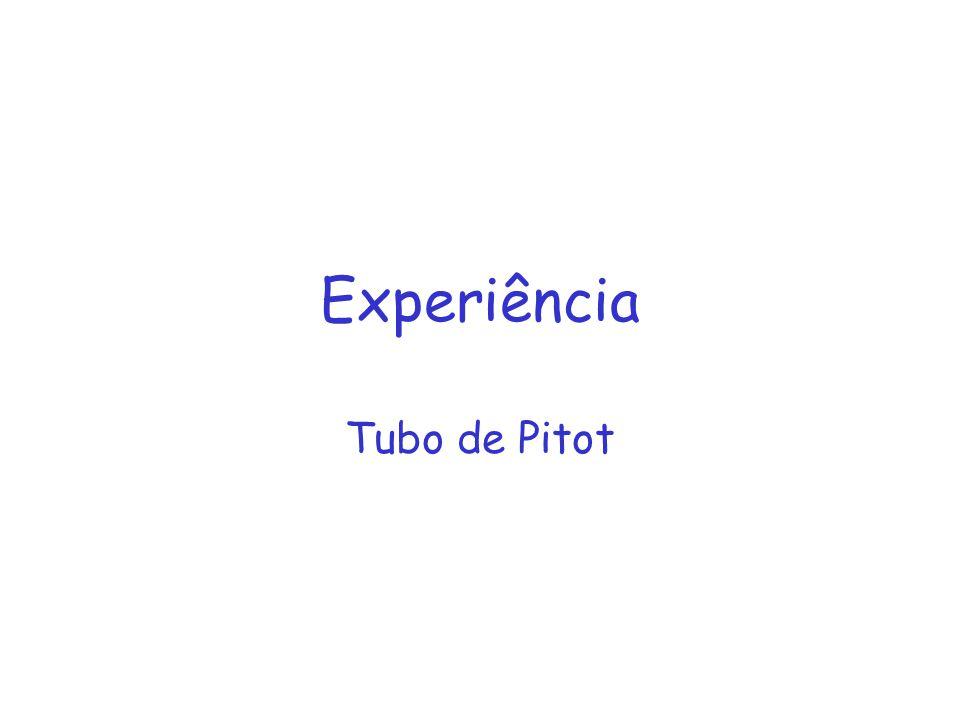Experiência Tubo de Pitot