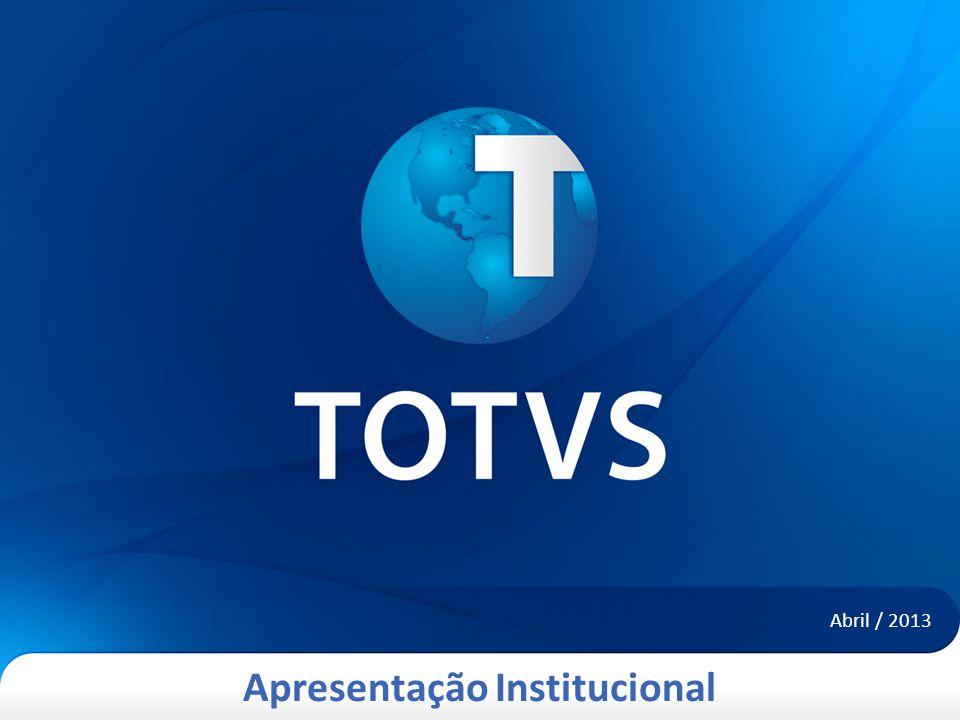 Apresentação Institucional Abril / 2013