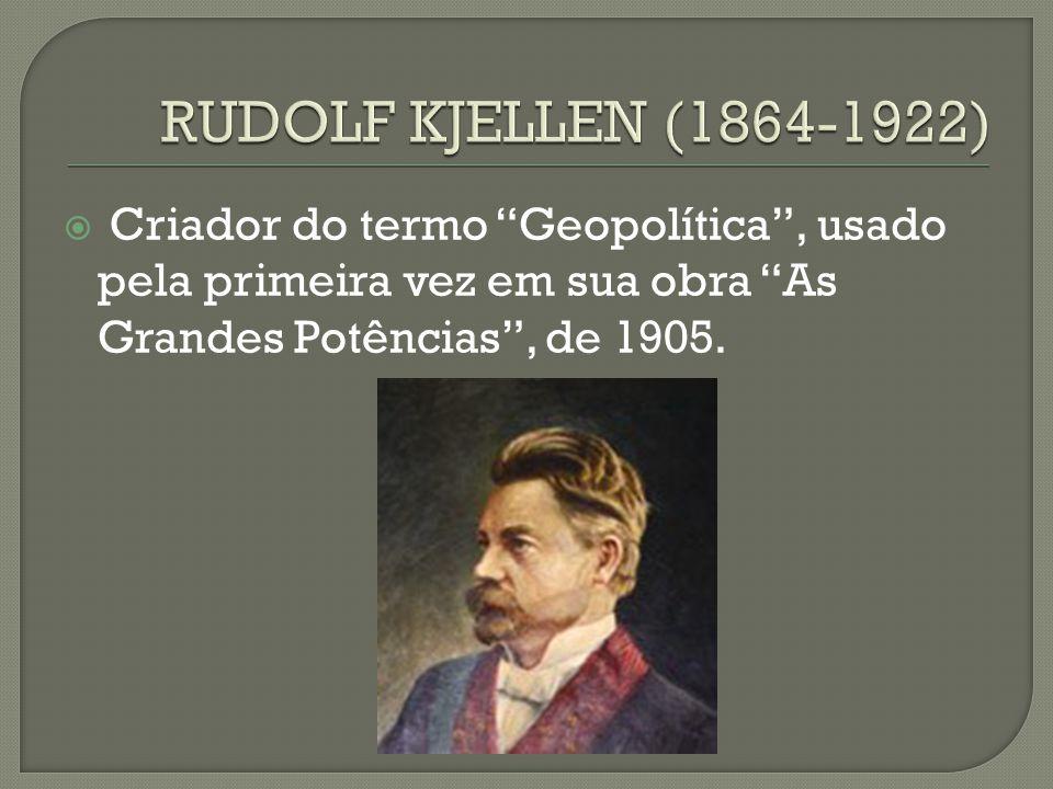  Criador do termo Geopolítica , usado pela primeira vez em sua obra As Grandes Potências , de 1905.