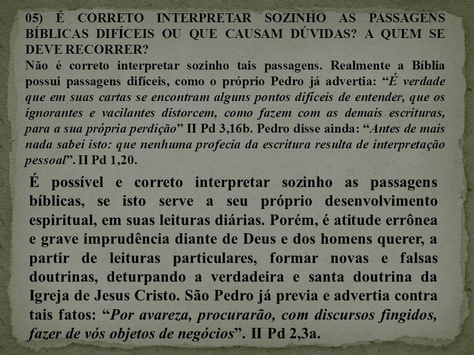 06) QUEM SÃO OS PERSONAGENS FIGURATIVOS DA BÍBLIA.