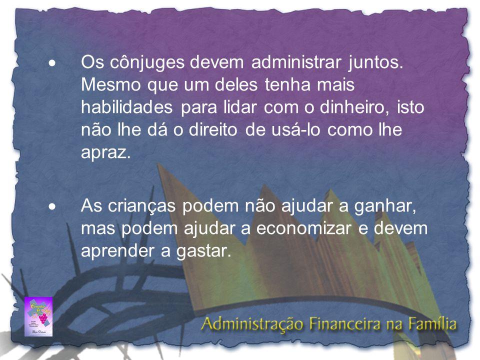 •As despesas pequenas são responsáveis em grande parte pelo desequilíbrio do orçamento - A contabilidade registra tudo; •Seja criterioso na anotação de todos os gastos inclusive dos centavos;