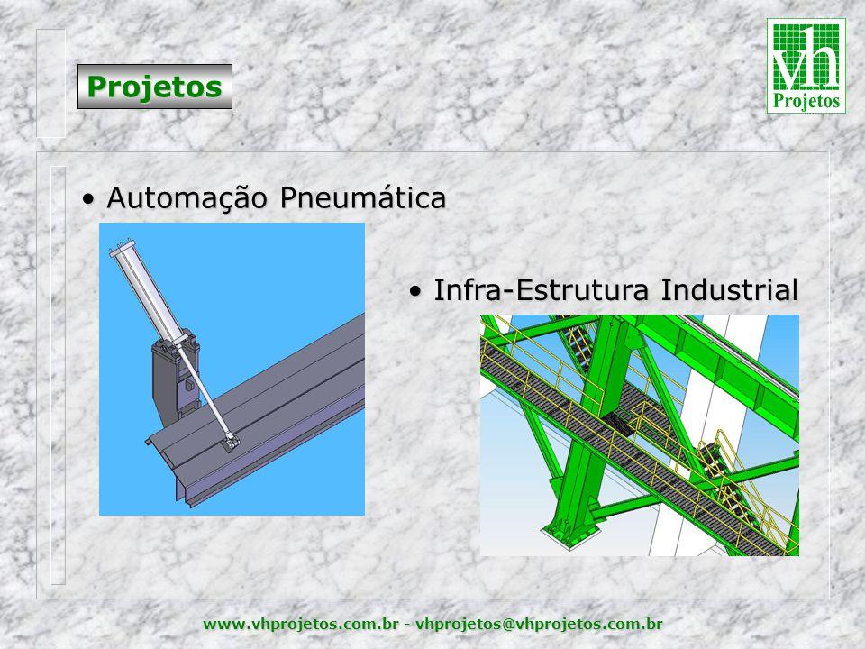 www.vhprojetos.com.br - vhprojetos@vhprojetos.com.br Projetos • Automação Pneumática • Infra-Estrutura Industrial