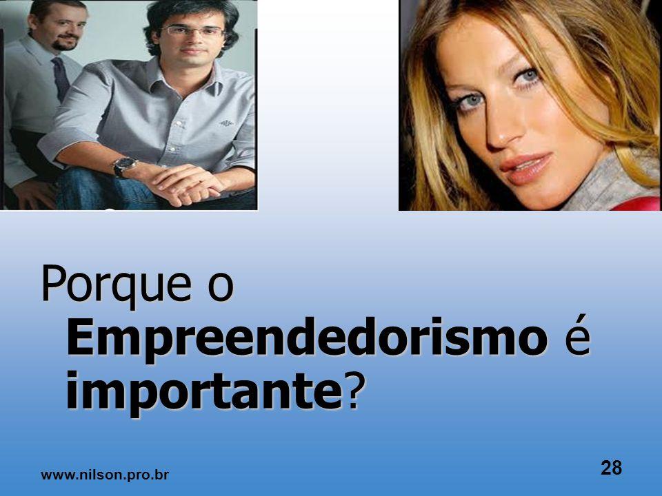 www.nilson.pro.br 27 A essência do empreendedorismo está na percepção e no aproveitamento das novas oportunidades no âmbito dos negócios.