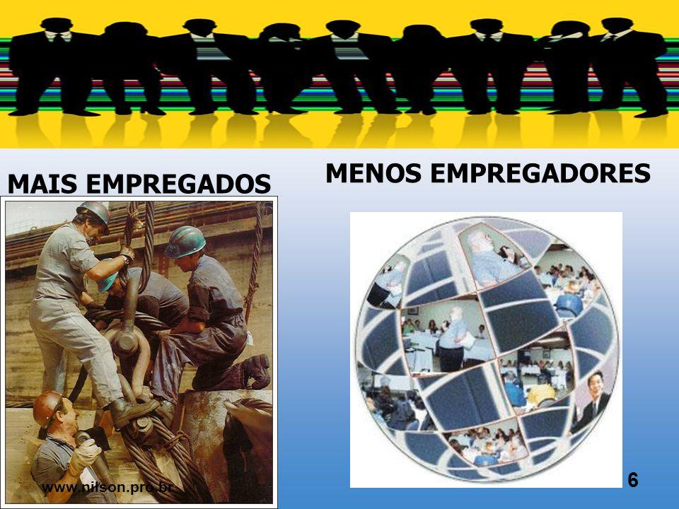 MAIS PESSOAS MENOS EMPREGO 5 www.nilson.pro.br