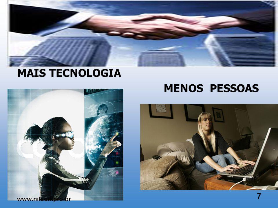MAIS EMPREGADOS MENOS EMPREGADORES 6 www.nilson.pro.br