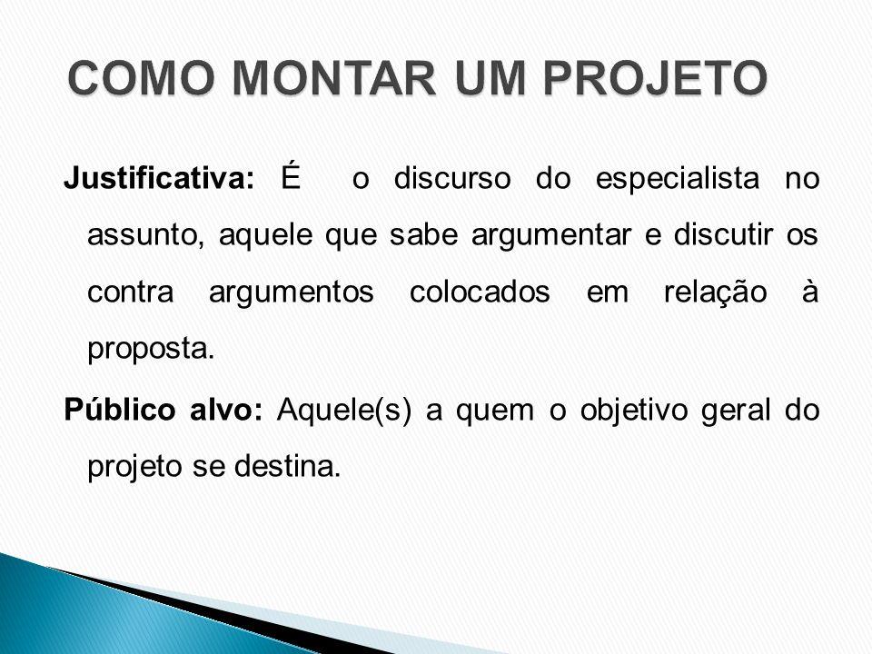 Justificativa: É o discurso do especialista no assunto, aquele que sabe argumentar e discutir os contra argumentos colocados em relação à proposta.