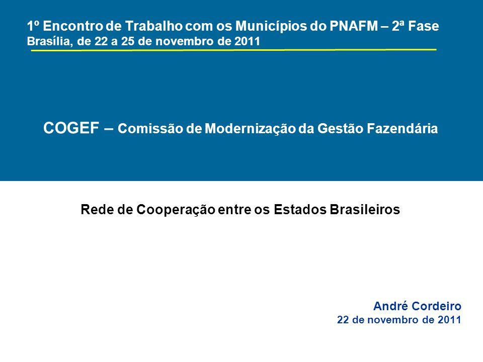 COGEF - Integração e cooperação entre os estados brasileiros para a modernização da gestão fiscal.
