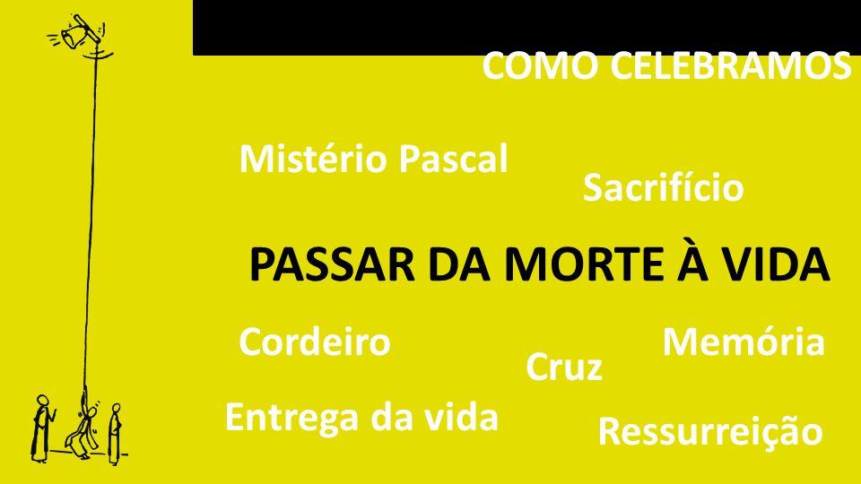 COMO CELEBRAMOS PASSAR DA MORTE À VIDA Mistério Pascal Cordeiro Cruz Sacrifício Entrega da vida Memória Ressurreição