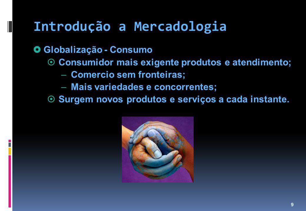 10  Globalização - Empresas  Novas tecnologias;  Obsolescência de produtos, serviços e instalações de produção; Introdução a Mercadologia