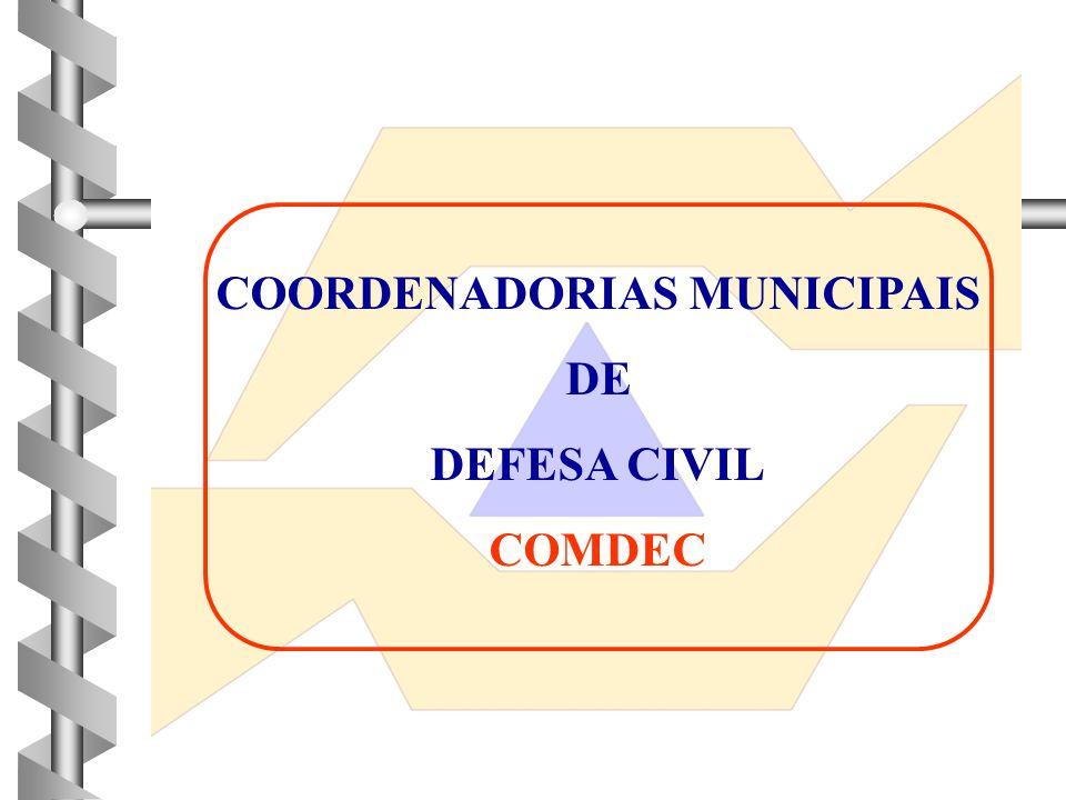 COORDENADORIAS MUNICIPAIS DE DEFESA CIVIL COMDEC