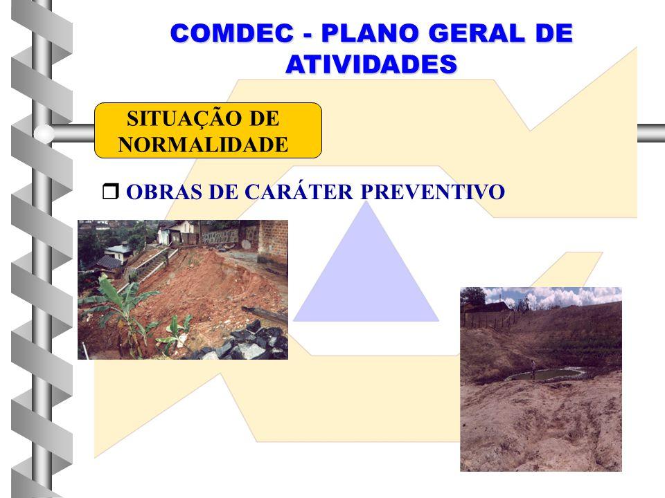 COMDEC - PLANO GERAL DE ATIVIDADES  OBRAS DE CARÁTER PREVENTIVO SITUAÇÃO DE NORMALIDADE
