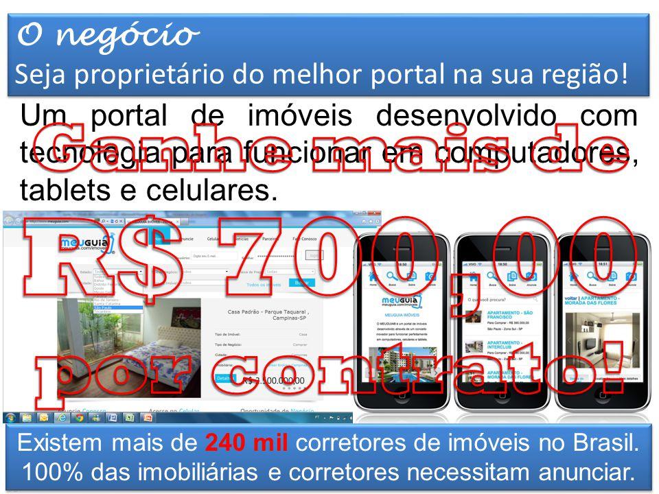 Elaborado por TT Marketing Um portal de imóveis desenvolvido com tecnologia para funcionar em computadores, tablets e celulares.