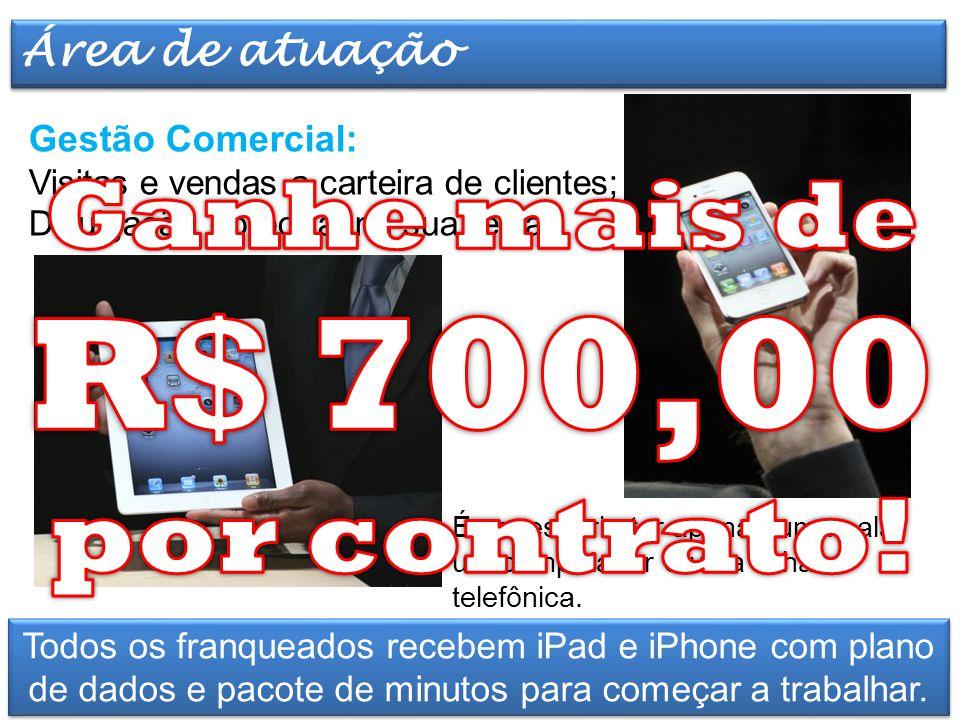 Elaborado por TT Marketing Gestão Comercial: Visitas e vendas a carteira de clientes; Divulgação do portal na sua região. Atividades e Infra-estrutura