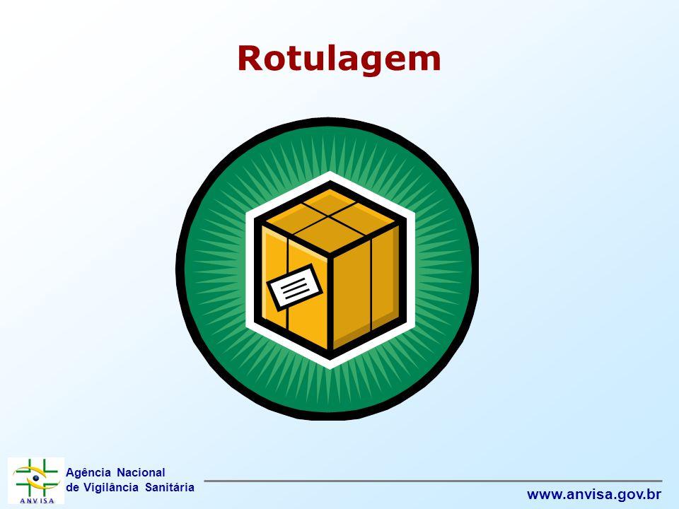 Agência Nacional de Vigilância Sanitária www.anvisa.gov.br Rotulagem