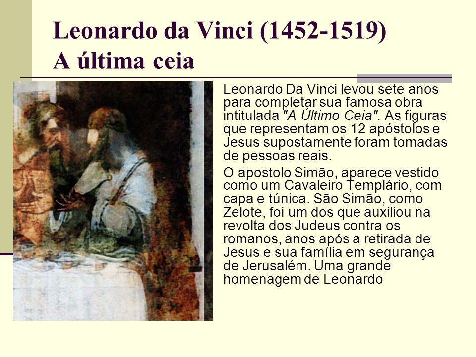  Leonardo Da Vinci levou sete anos para completar sua famosa obra intitulada A Último Ceia .