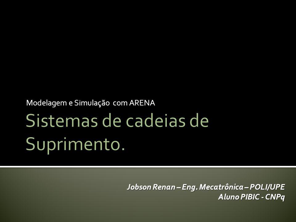 Modelagem e Simulação com ARENA Jobson Renan – Eng. Mecatrônica – POLI/UPE Aluno PIBIC - CNPq