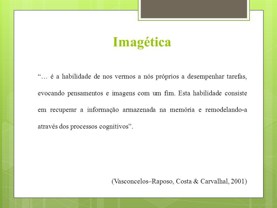 … é a habilidade de nos vermos a nós próprios a desempenhar tarefas, evocando pensamentos e imagens com um fim.