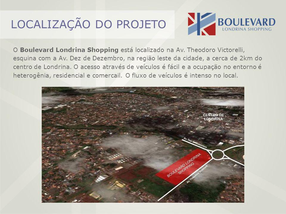 LOCALIZAÇÃO DO PROJETO O Boulevard Londrina Shopping está localizado na Av. Theodoro Victorelli, esquina com a Av. Dez de Dezembro, na região leste da