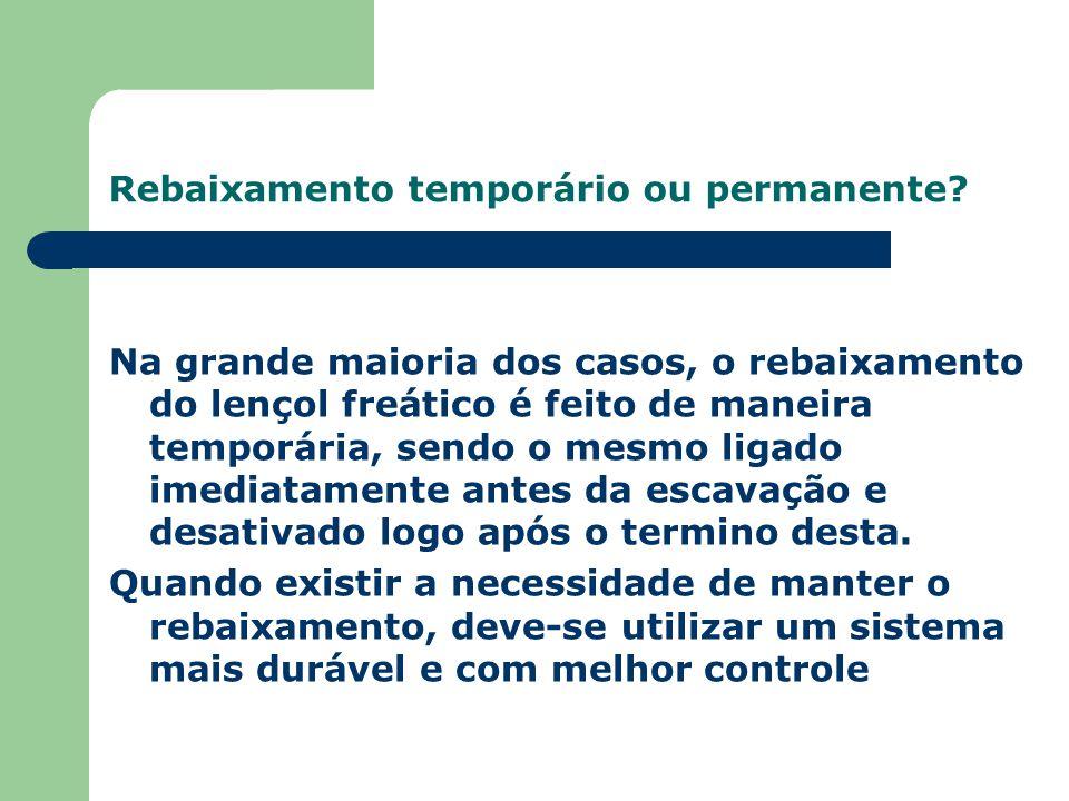 Rebaixamento temporário ou permanente.