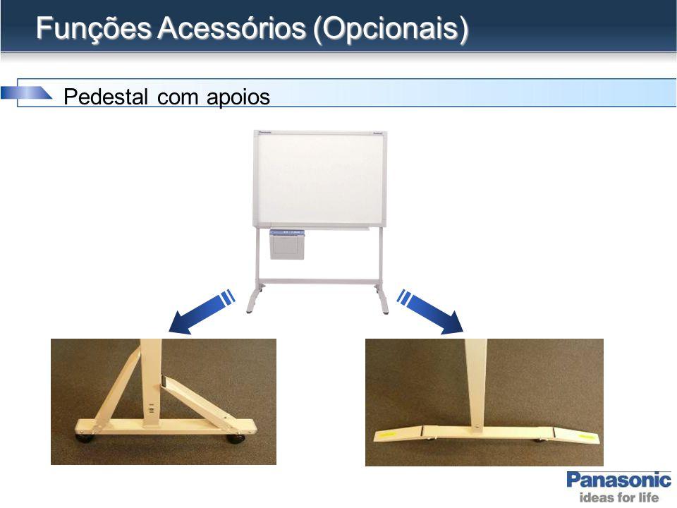 Funções Acessórios Pedestal com ajuste de altura 3 níveis de altura