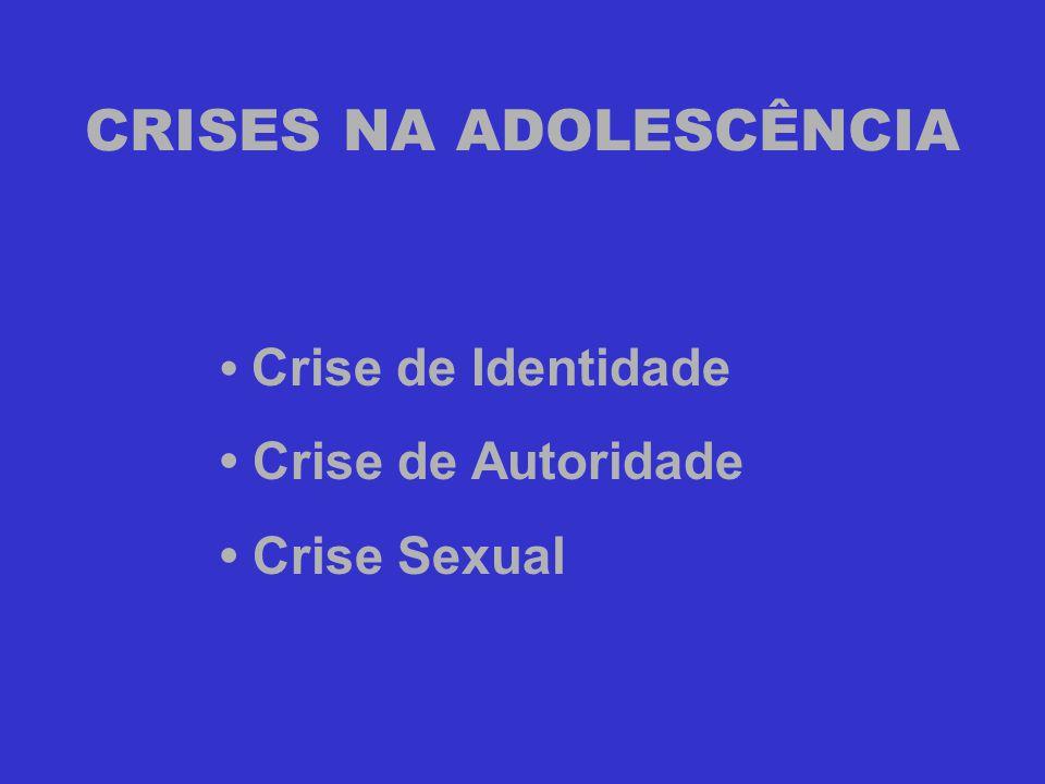 CRISES NA ADOLESCÊNCIA • Crise de Identidade • Crise de Autoridade • Crise Sexual