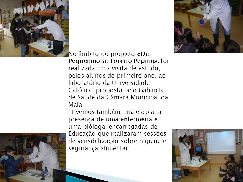 No âmbito do projecto «De Pequenino se Torce o Pepino», foi realizada uma visita de estudo, pelos alunos do primeiro ano, ao laboratório da Universidade Católica, proposta pelo Gabinete de Saúde da Câmara Municipal da Maia.