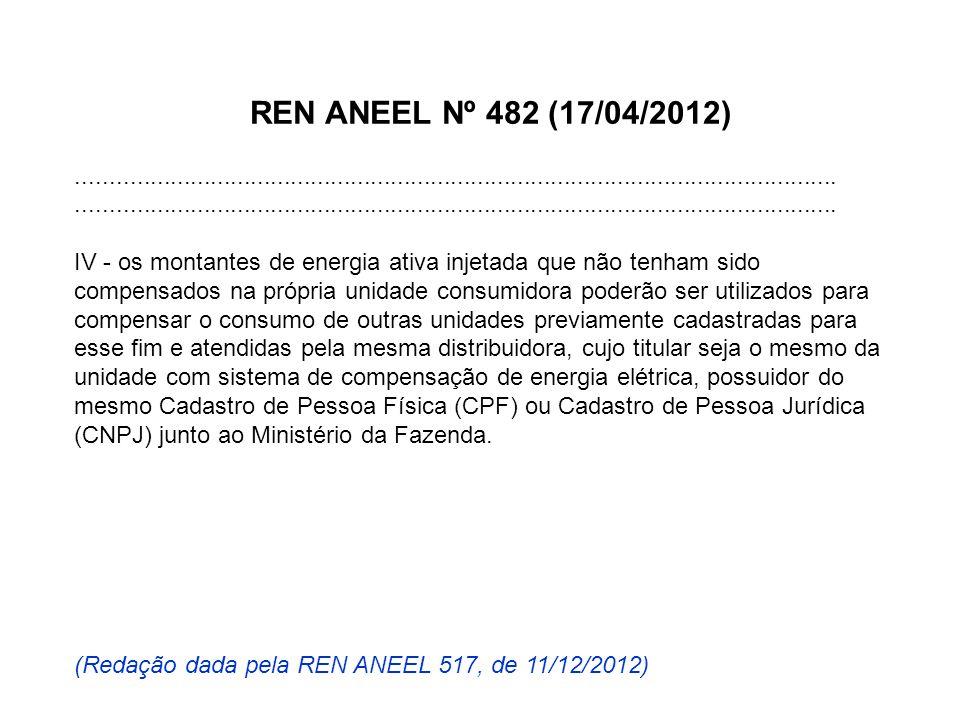 REN ANEEL Nº 482 (17/04/2012).................................................................................................................. IV - o