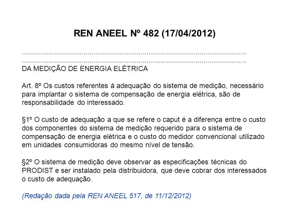REN ANEEL Nº 482 (17/04/2012).................................................................................................................. DA MED