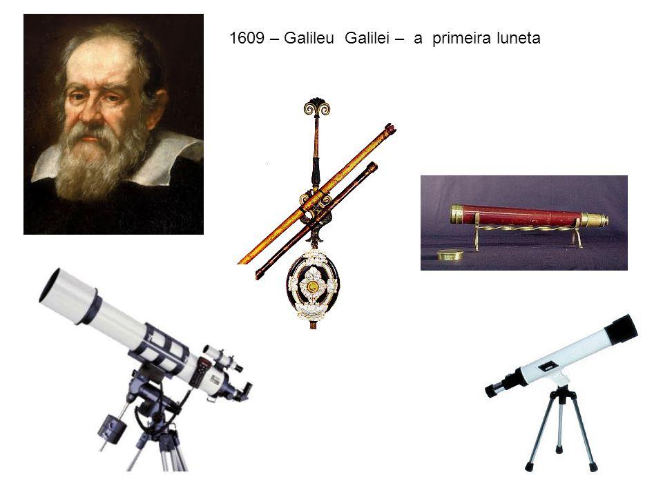 1609 – Galileu Galilei – a primeira luneta