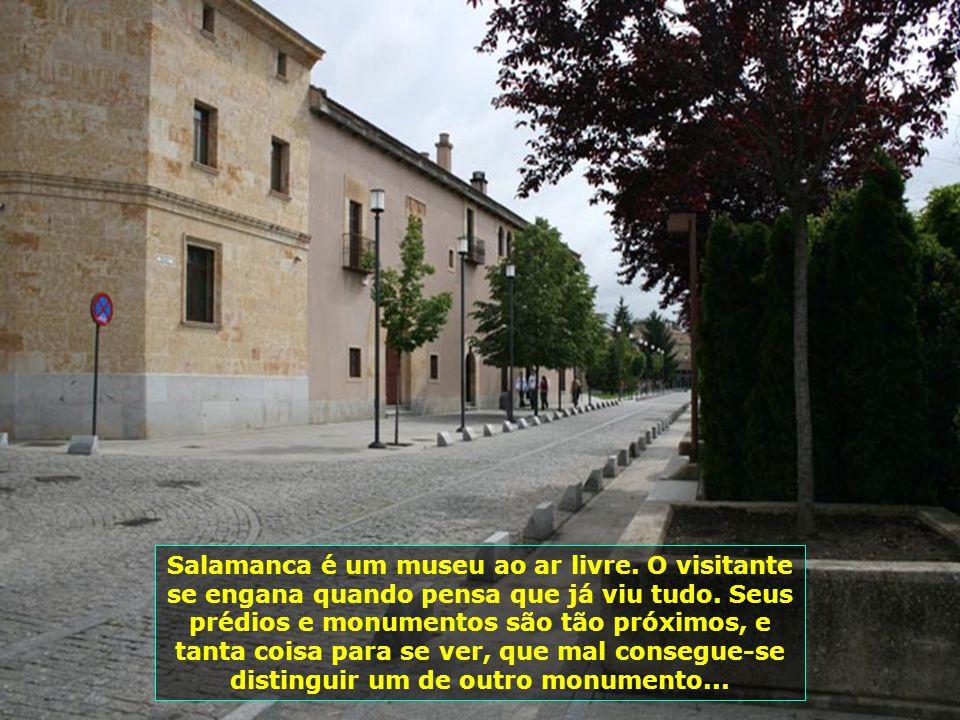 Salamanca é um museu ao ar livre.O visitante se engana quando pensa que já viu tudo.