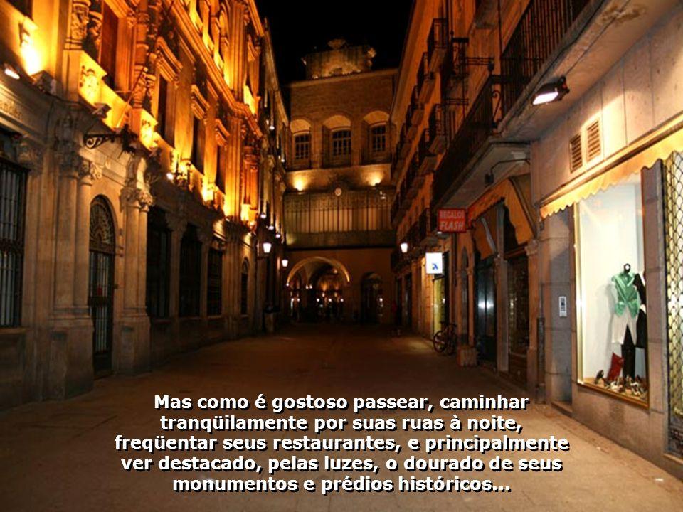 Mas como é gostoso passear, caminhar tranqüilamente por suas ruas à noite, freqüentar seus restaurantes, e principalmente ver destacado, pelas luzes, o dourado de seus monumentos e prédios históricos...