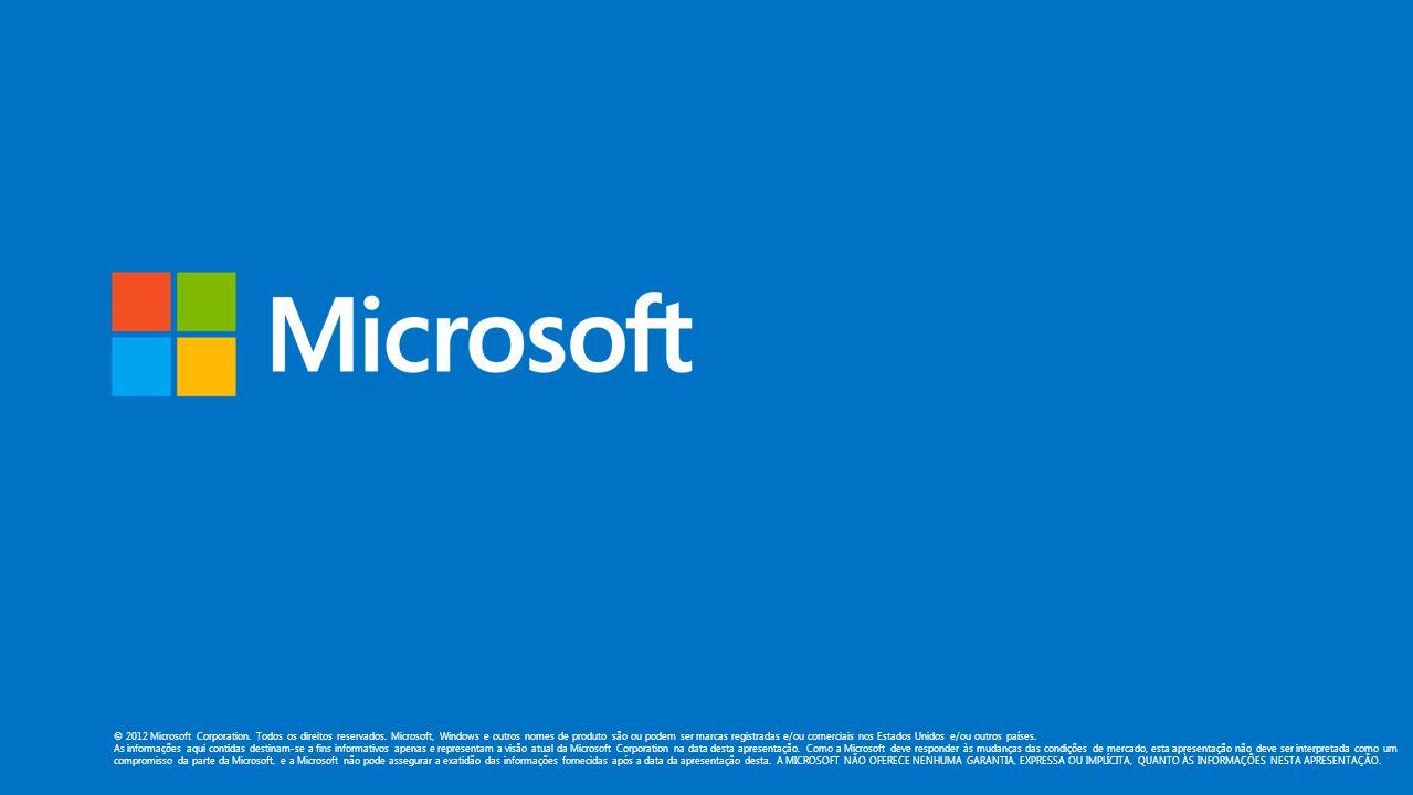 © 2012 Microsoft Corporation. Todos os direitos reservados.