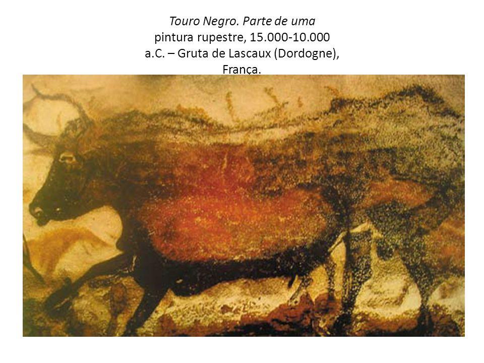 Touro Negro. Parte de uma pintura rupestre, 15.000-10.000 a.C. – Gruta de Lascaux (Dordogne), França.