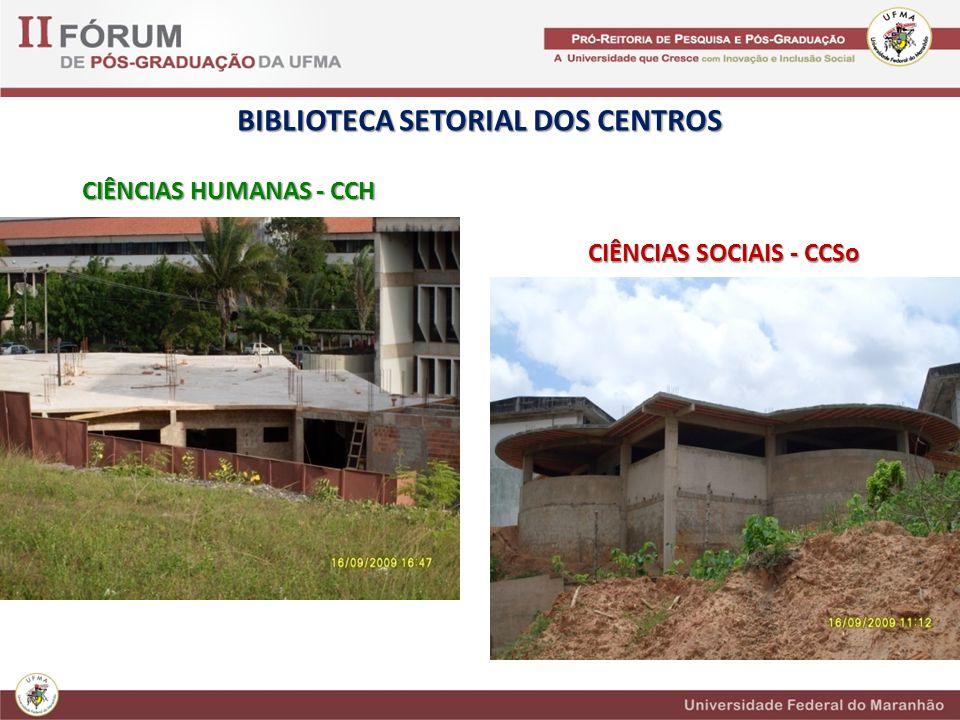 BIBLIOTECA SETORIAL DOS CENTROS CIÊNCIAS HUMANAS - CCH CIÊNCIAS SOCIAIS - CCSo