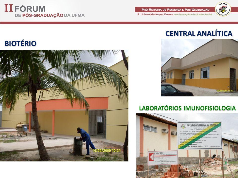BIOTÉRIO CENTRAL ANALÍTICA LABORATÓRIOS IMUNOFISIOLOGIA