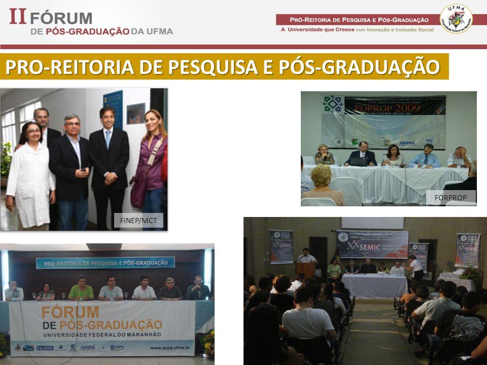 PRO-REITORIA DE PESQUISA E PÓS-GRADUAÇÃO FORPROP FINEP/MCT