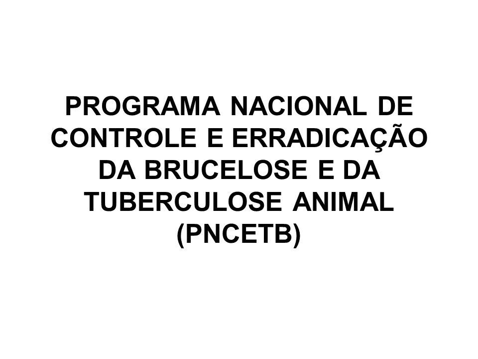 PROGRAMA NACIONAL DE CONTROLE E ERRADICAÇÃO DA BRUCELOSE E DA TUBERCULOSE ANIMAL (PNCETB)