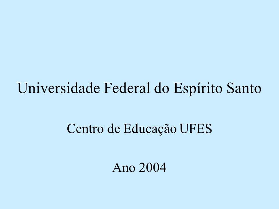 Universidade Federal do Espírito Santo Centro de Educação UFES Ano 2004