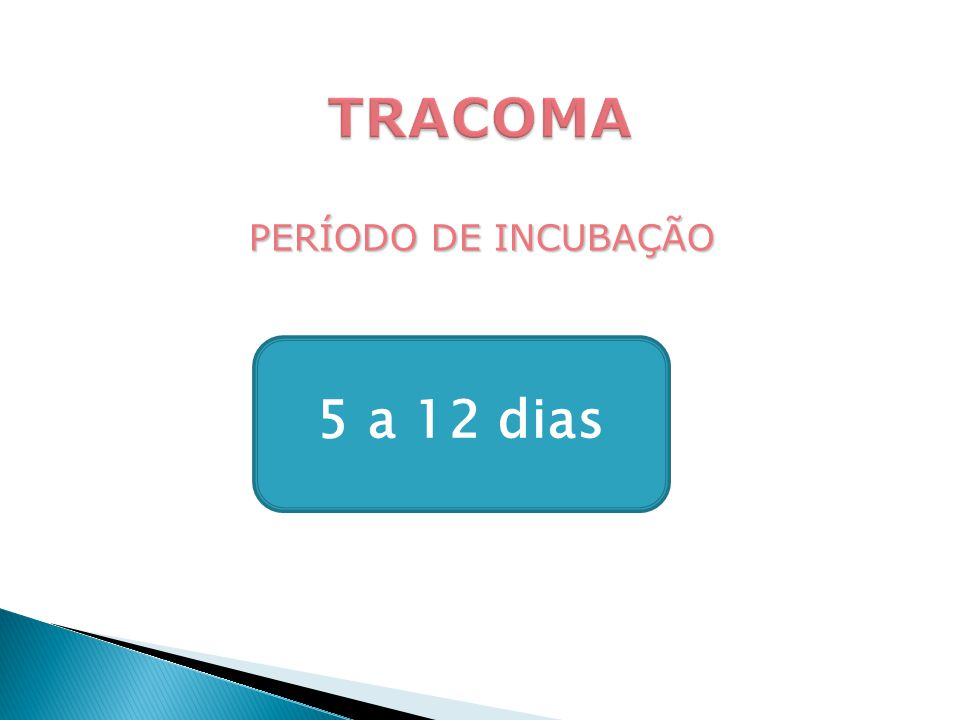 PERÍODO DE INCUBAÇÃO 5 a 12 dias