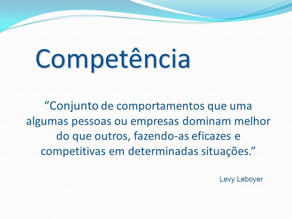 """""""Conjunto de comportamentos que uma algumas pessoas ou empresas dominam melhor do que outros, fazendo-as eficazes e competitivas em determinadas situa"""