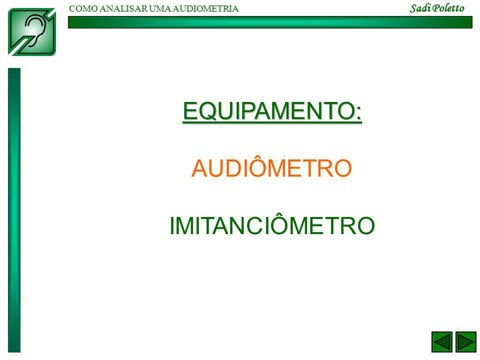 COMO ANALISAR UMA AUDIOMETRIA Sadi Poletto DADOS A CONSIDERAR 1.ANALISAR O TIPO DE PERDA 2.DEFINIR SE HÁ CARACTERISTICAS DE PAINPSE.
