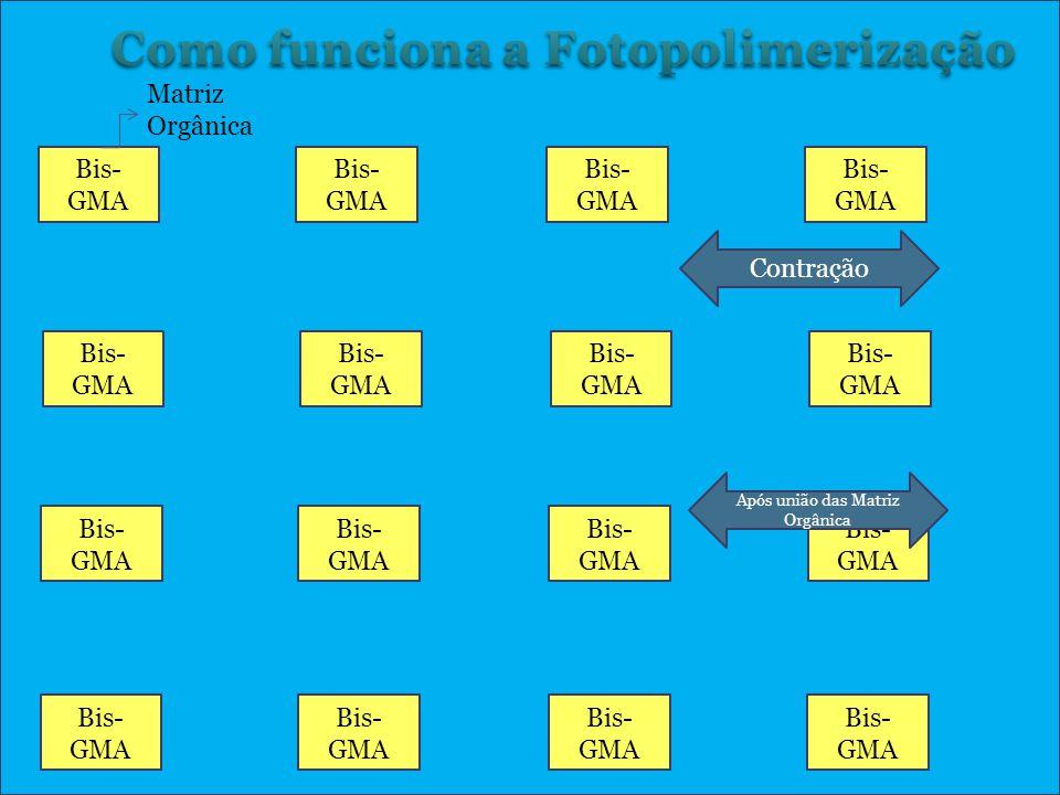 Contração de polimerização Bis- GMA