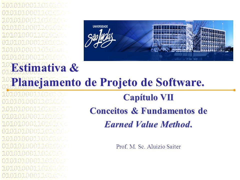Estimativa & Planejamento de Projeto de Software. Capítulo VII Conceitos & Fundamentos de Earned Value Method. Prof. M. Sc. Aluizio Saiter