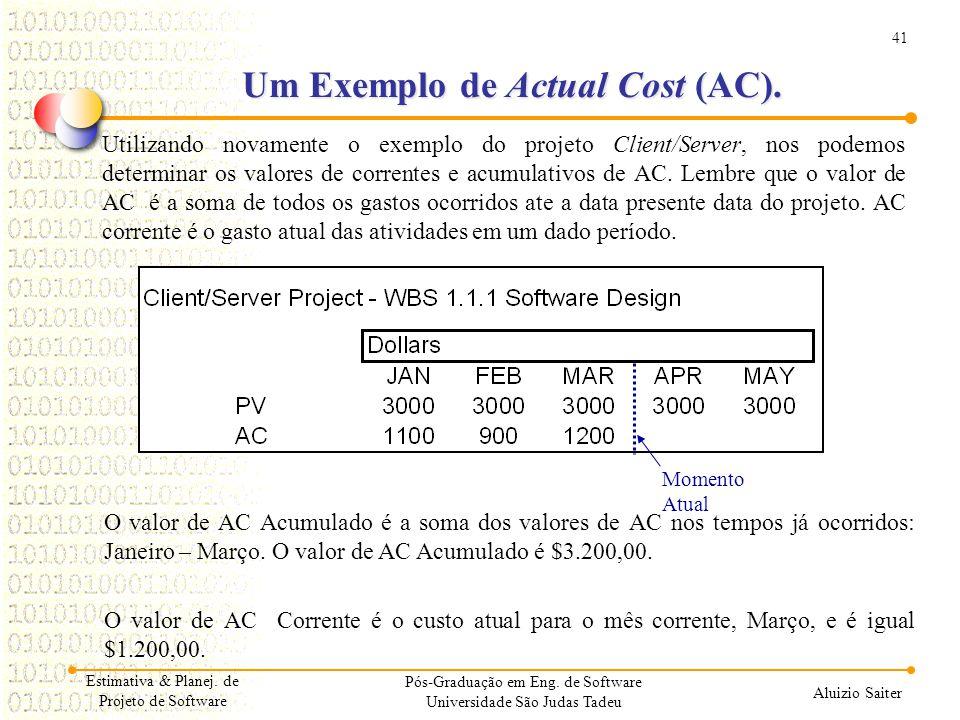 41 Aluizio Saiter Pós-Graduação em Eng. de Software Universidade São Judas Tadeu Utilizando novamente o exemplo do projeto Client/Server, nos podemos