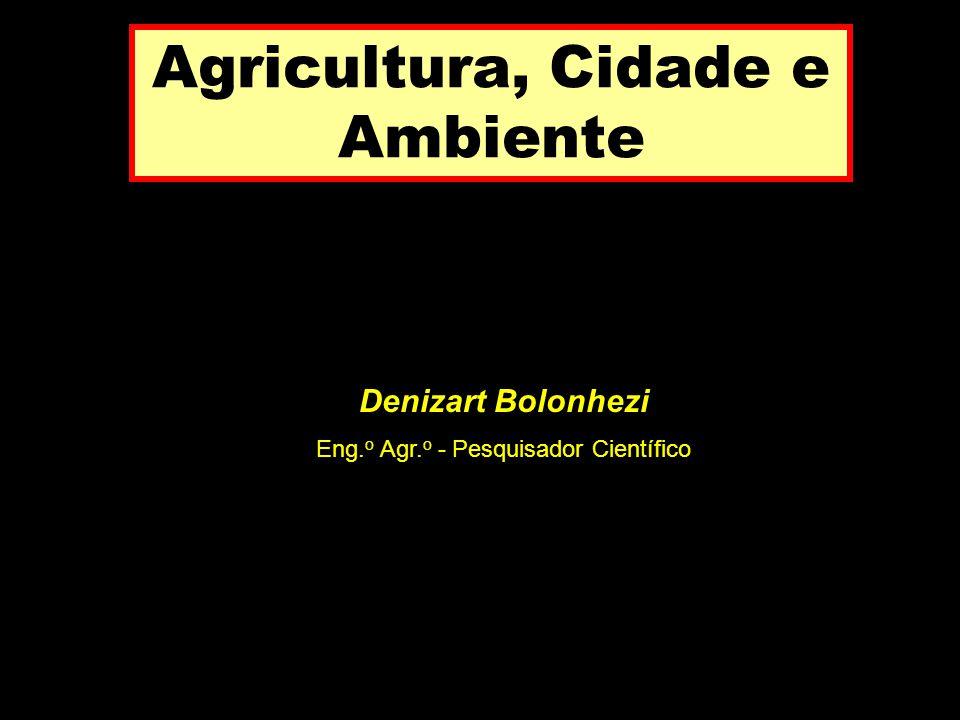 Agricultura, Cidade e Ambiente Denizart Bolonhezi Eng. o Agr. o - Pesquisador Científico