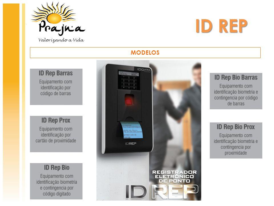 ID REP CARACTERÍSTICAS OPERACIONAIS  Configuração via software ou no próprio equipamento.
