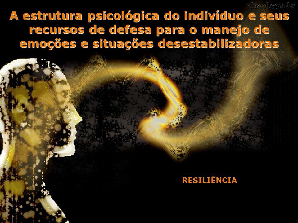 A estrutura psicológica do indivíduo e seus recursos de defesa para o manejo de emoções e situações desestabilizadoras RESILIÊNCIA