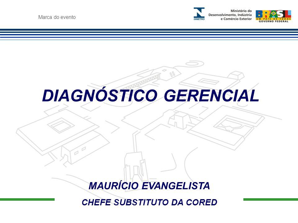 Marca do evento MAURÍCIO EVANGELISTA CHEFE SUBSTITUTO DA CORED DIAGNÓSTICO GERENCIAL