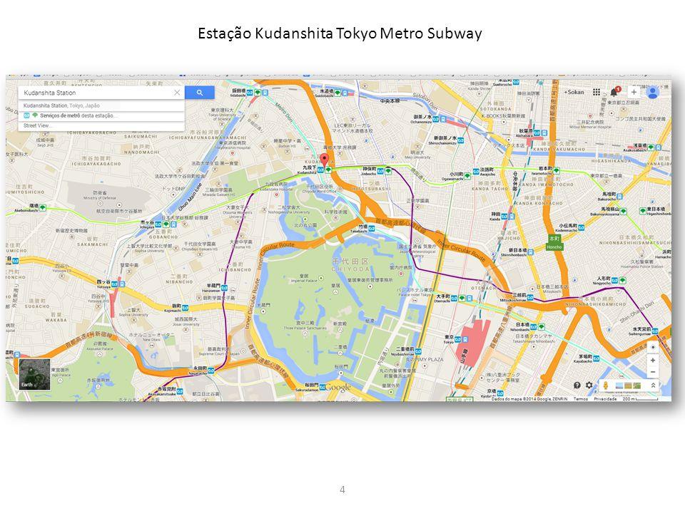 4 Estação Kudanshita Tokyo Metro Subway